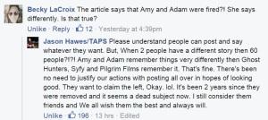 Jason says Amy fired